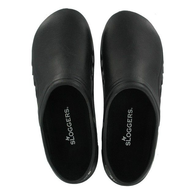 SLOGGERS Size 10 Black Men's Sloggers * Men's sloggers * Garden sandal * Features the step in strap that provides security of a strap but convenience of a clog * Made of lightweight high quality Eva with a terry cloth insole for more comfort * Unisex styling * Size 10 men's * Black #hometools #homeequipment #homedepot #houseneeds