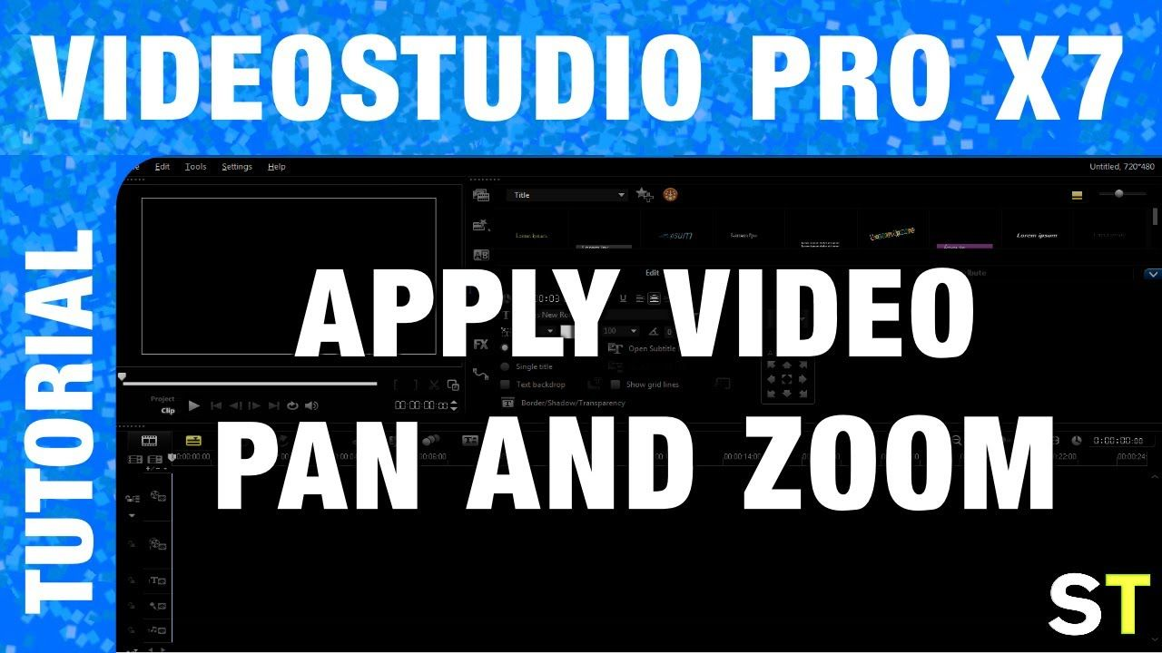 How to Apply Pan / Zoom to Videos in Corel VideoStudio Pro