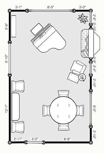 Floor Plan For The Piano Dining Room Tea Room Design Inspiration Floor Plans