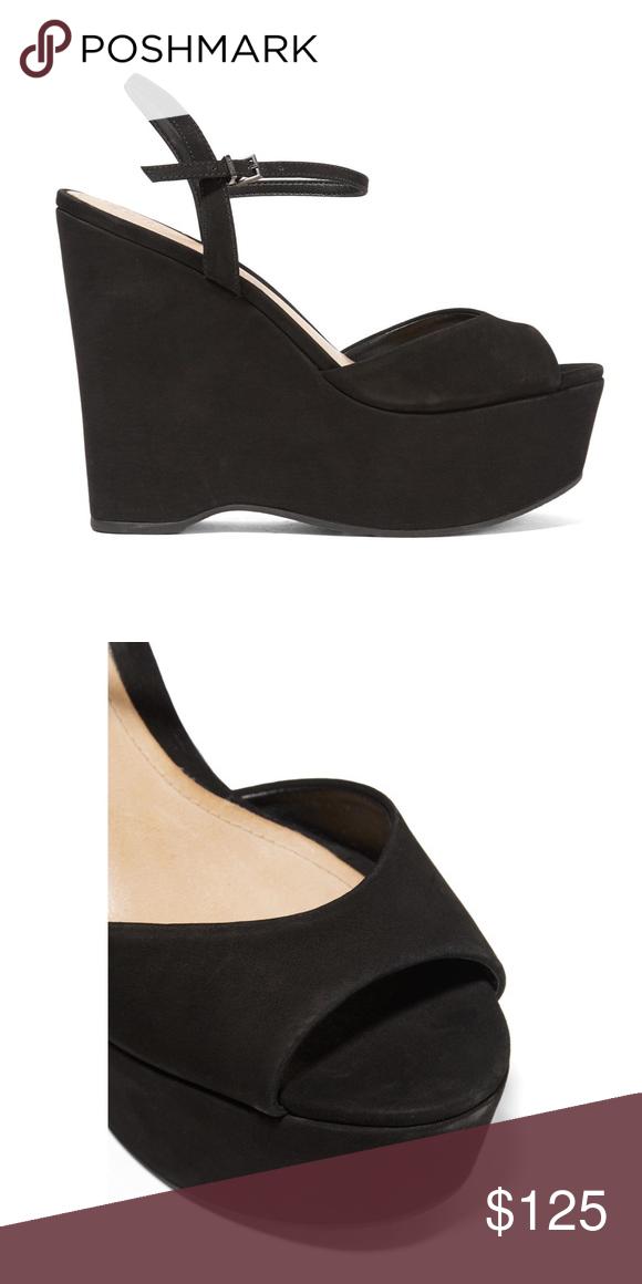 c776f918c5 SCHUTZ Black Suede Platform Wedge Sandal SCHUTZ Black Suede Platform Wedge  Sandal Size 38 SCHUTZ Shoes Platforms