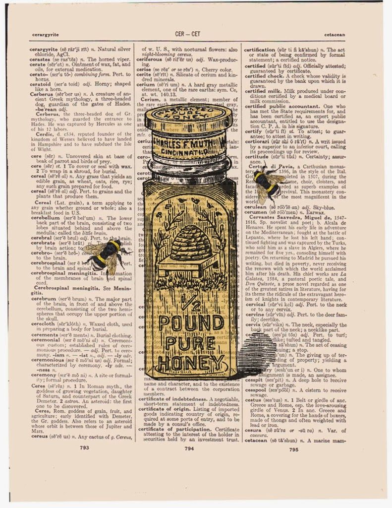 Коллекция картинок: Antique Dictionary Art Prints