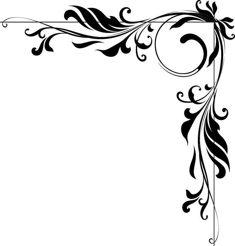 Угловые картинки для оформления бумаги