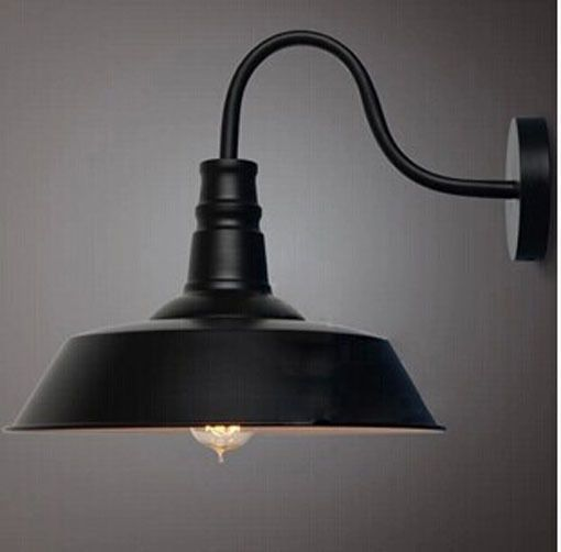 Hallway edison black industrial vintage wall sconce wall lamp light  #RusticPrimitive