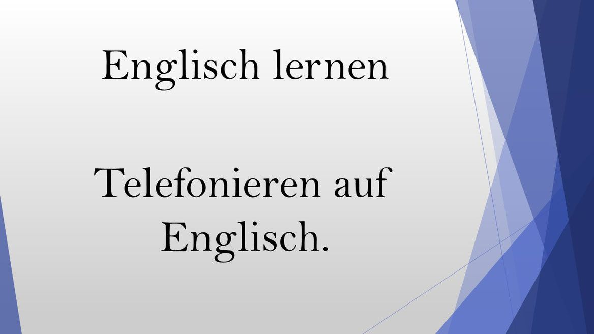 Therefore Englisch