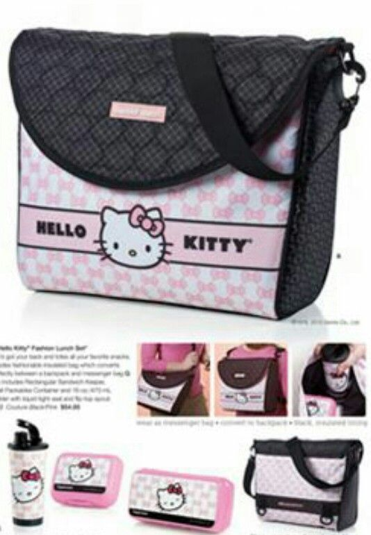Hello kitty lunch bag Tupperware   Tupperware   Hello kitty ... e3e1fc39f5