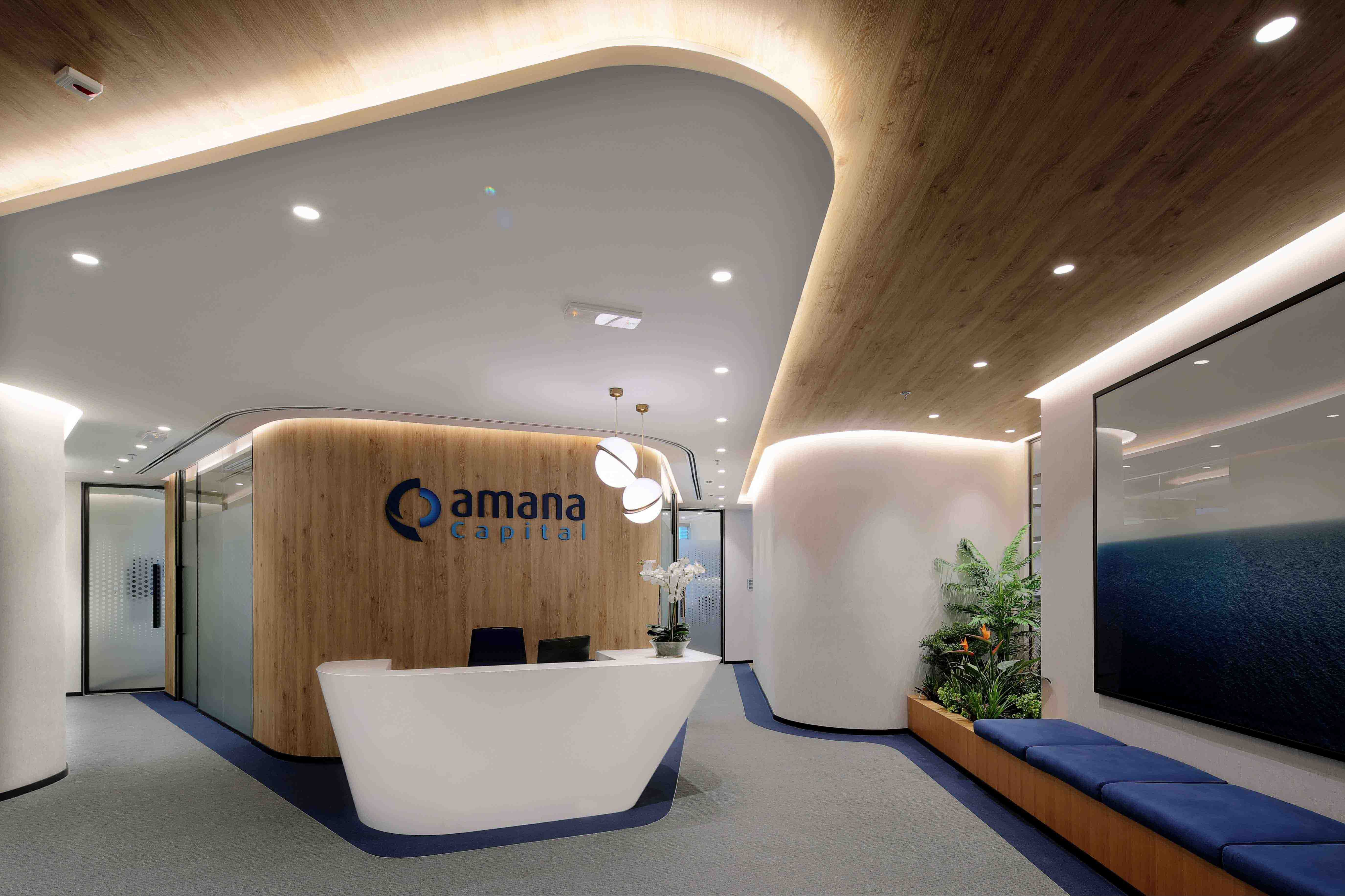 Amana capital office designed and built by swiss bureau interior