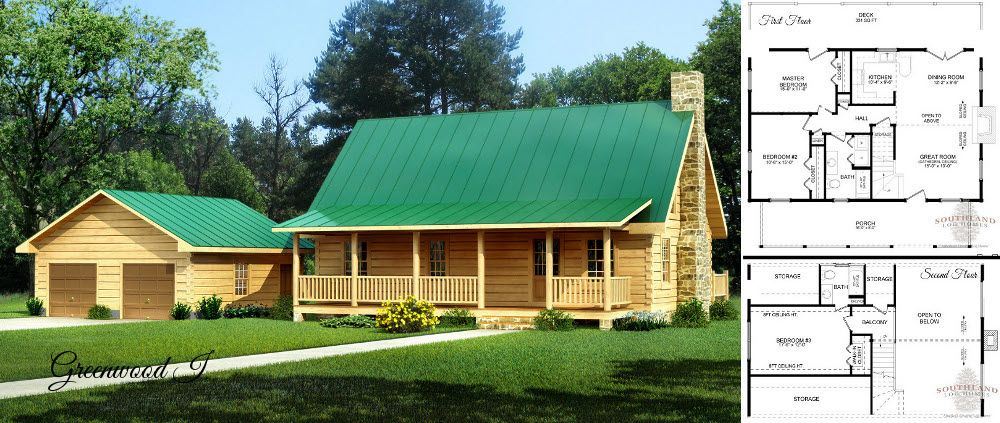 The Greenwood log home and floorplan | Beautiful Homes | Pinterest ...