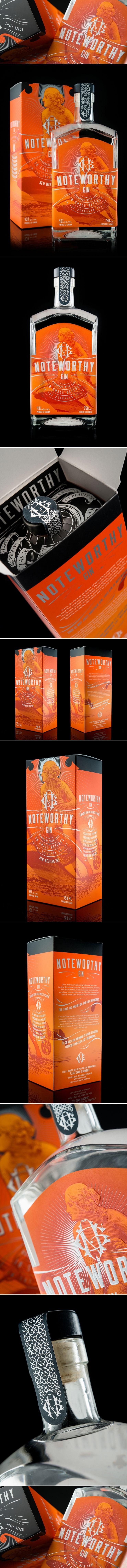 Noteworthy Gin — The Dieline | Packaging & Branding Design & Innovation News