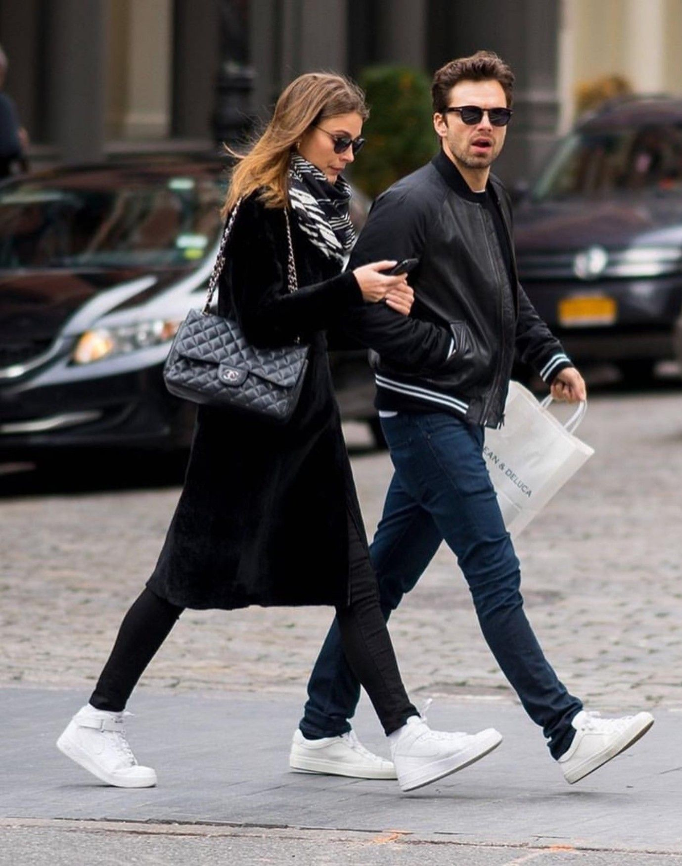 Sebastian Stan in New York City October 14, 2018 with