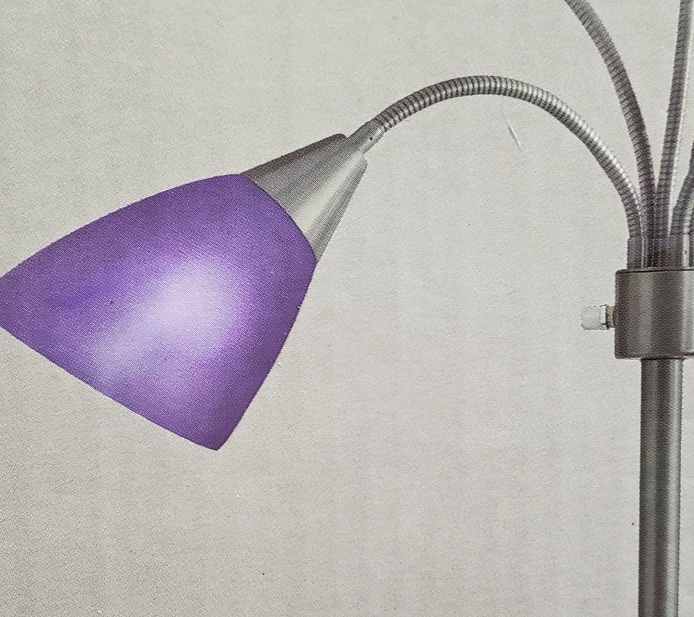 Hampton Bay Floor Lamp Replacement Purple Lampshade Plastic 1002