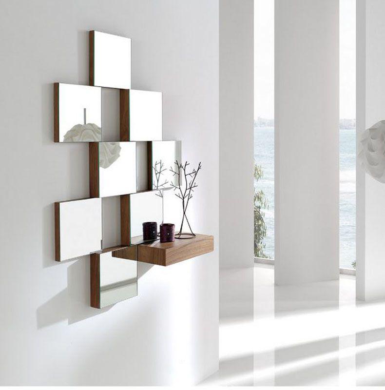 espejos de cristal espejos de cristal originales e  casa  Espejos de pared Decoracin de unas y Espejos decorativos