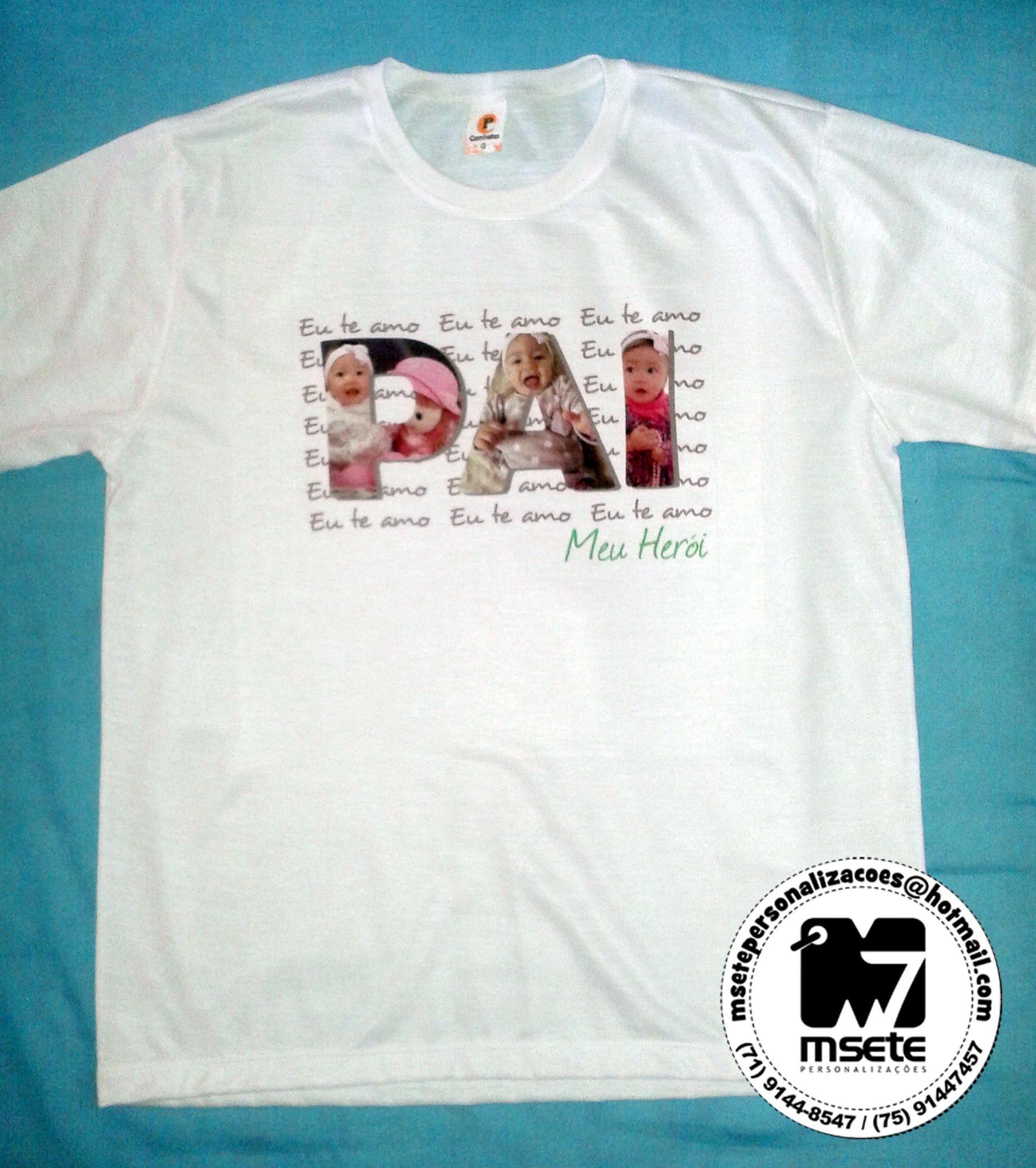 Camisa Personalizada Dia Dos Pais Dia Do Pai Camisas