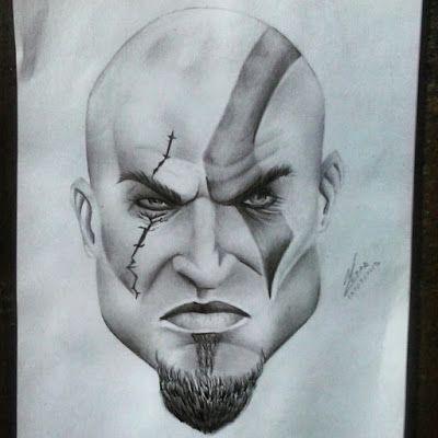 Drawing Kratos God Of War Kratos God Of War Kratos Desenho