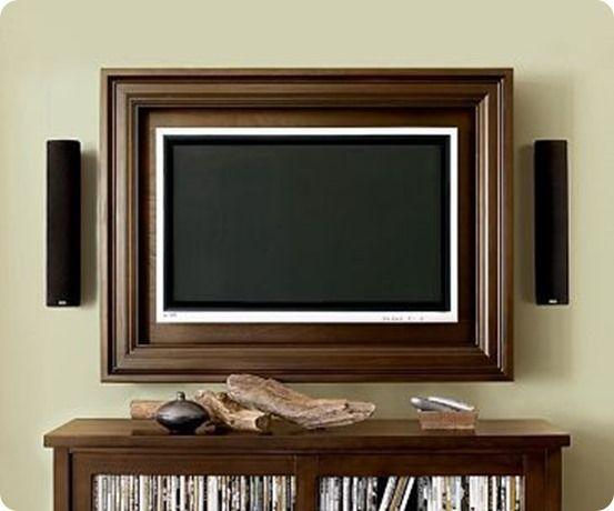 Build Your Own Custom Flat Screen Tv Frame Life Hacks Framed Tv