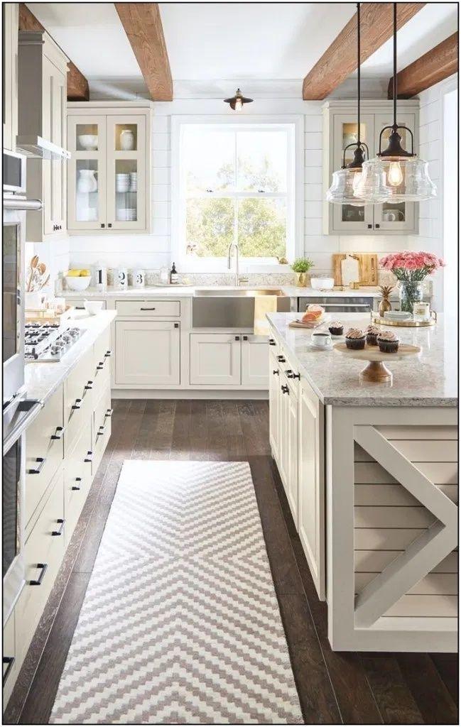 35+ Luxury Farmhouse Kitchen Ideas To Make Cooking More Fun — Home Design Ideas - Christmas Decorations