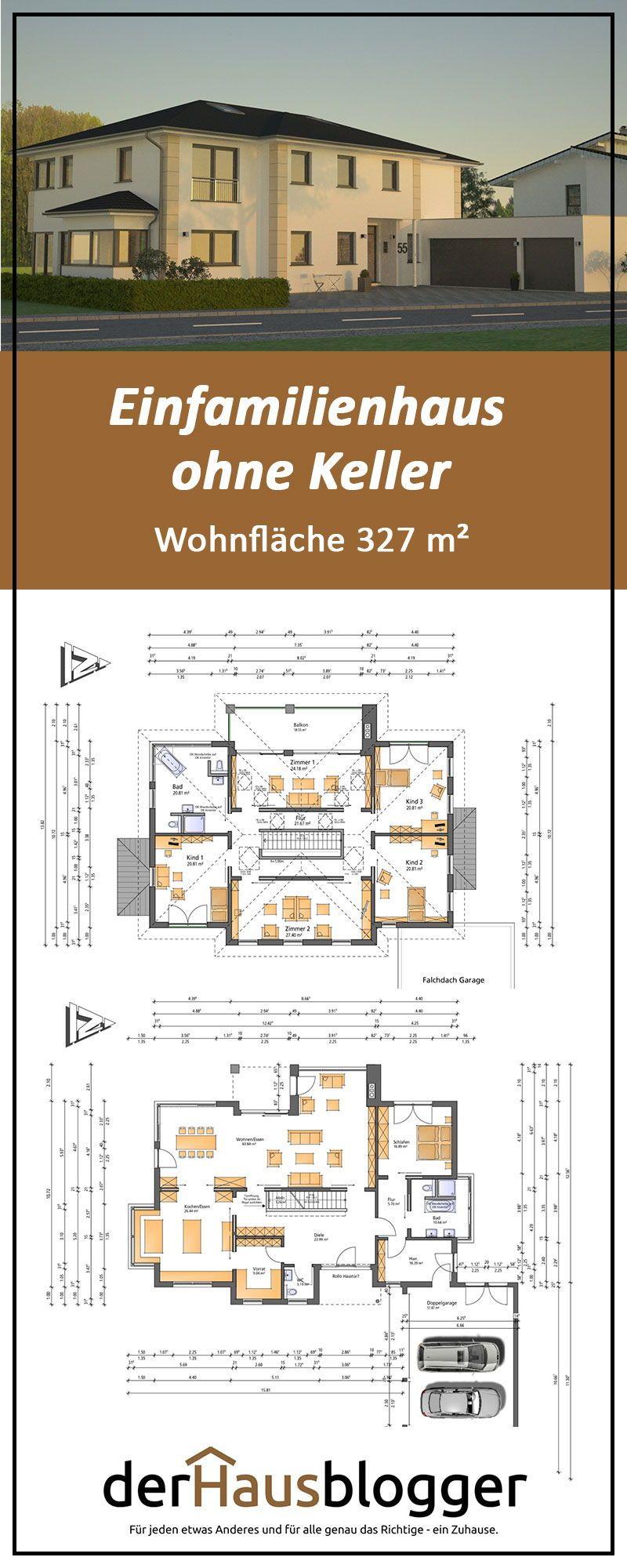 Einfamilienhaus ohne Keller, Wohnflaeche 327 m2