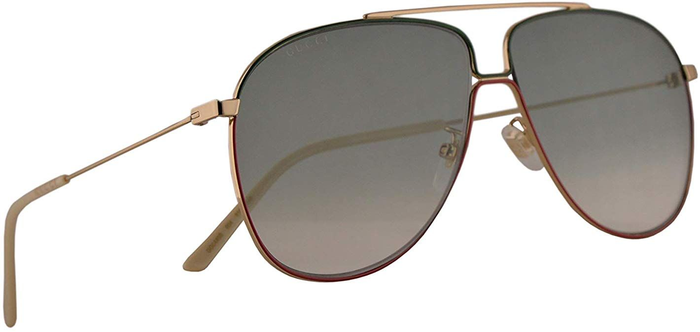 BLACK OR GOLD AVIATOR SUNGLASSES WITH GREEN LENS /& FLEXIBLE EAR LOOP WRAP