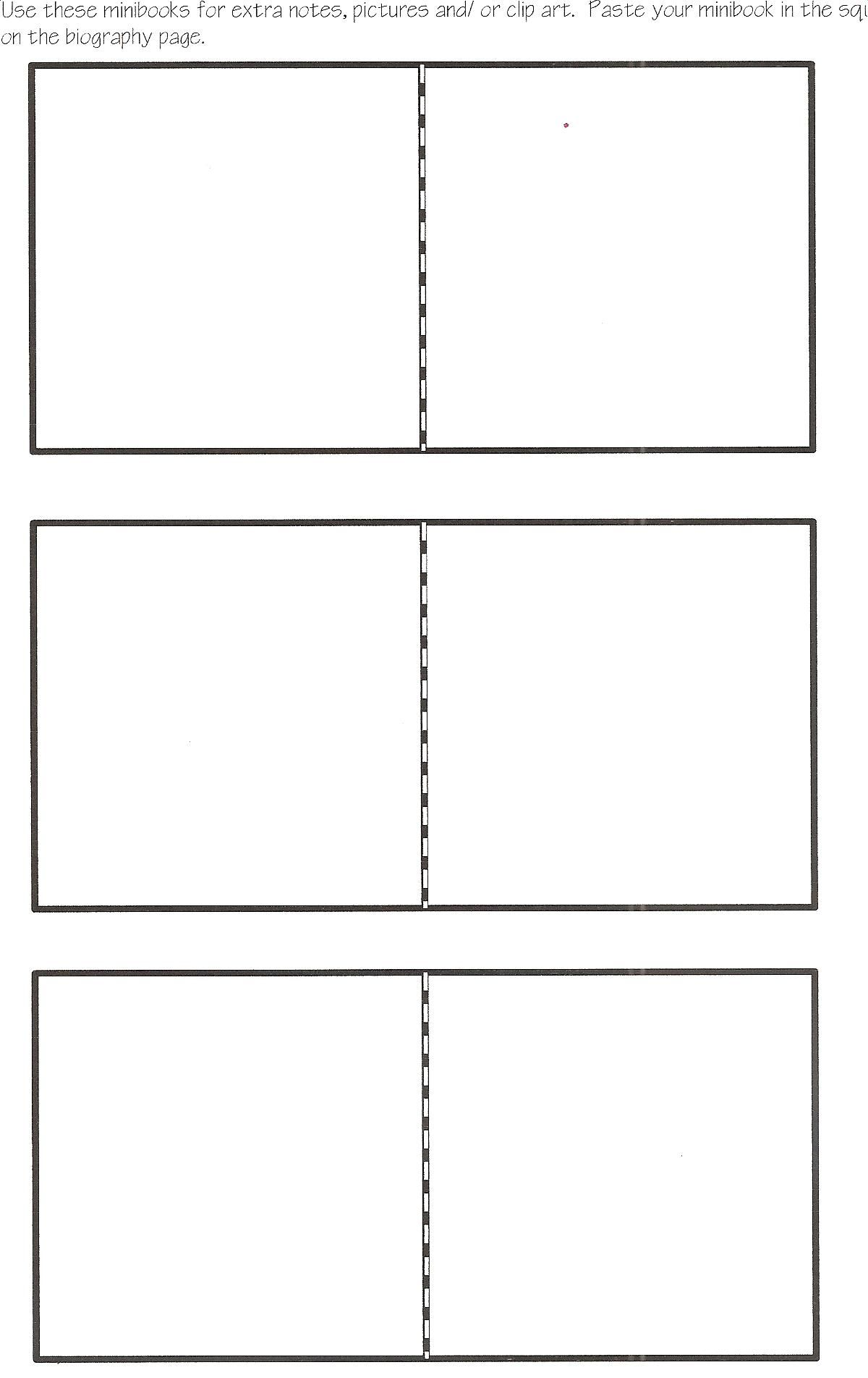Mini Book Template Could Be Used As A Chapter Summary Book On