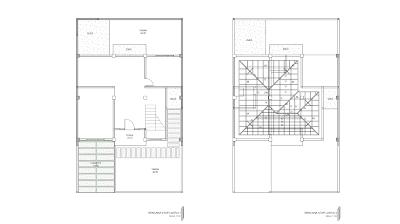 Gambar Rencana Atap Lantai 1 Dan 2 Lantai Rumah Kemewahan