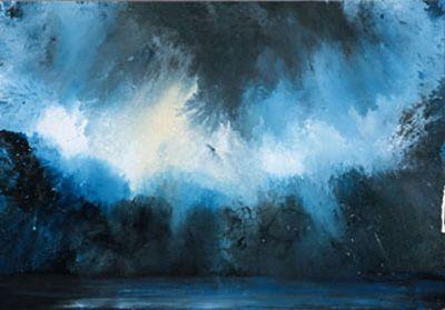 Grand Nuage sur la Mer Técnica mixta sobre tela. 123 x 175 cm