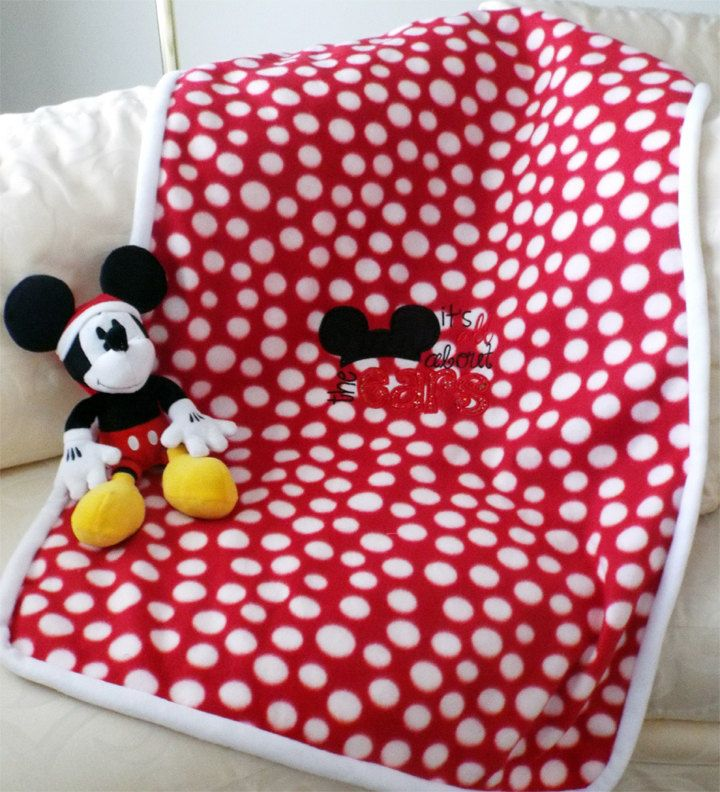 Baby Boy Double Fleece Mickey Mouse Ears Hand Sewn Blanket by BobbinForStitches on Etsy