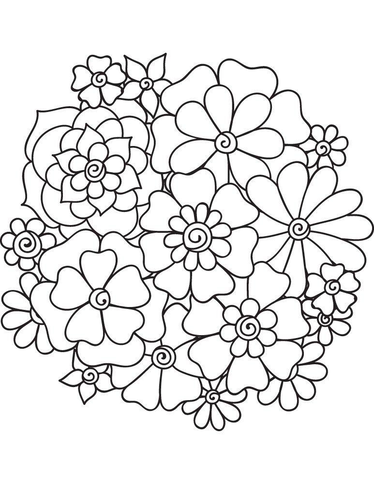 Mandala fleurs coloriage enfant imprimer gratuit - Coloriage fleurs gratuit ...
