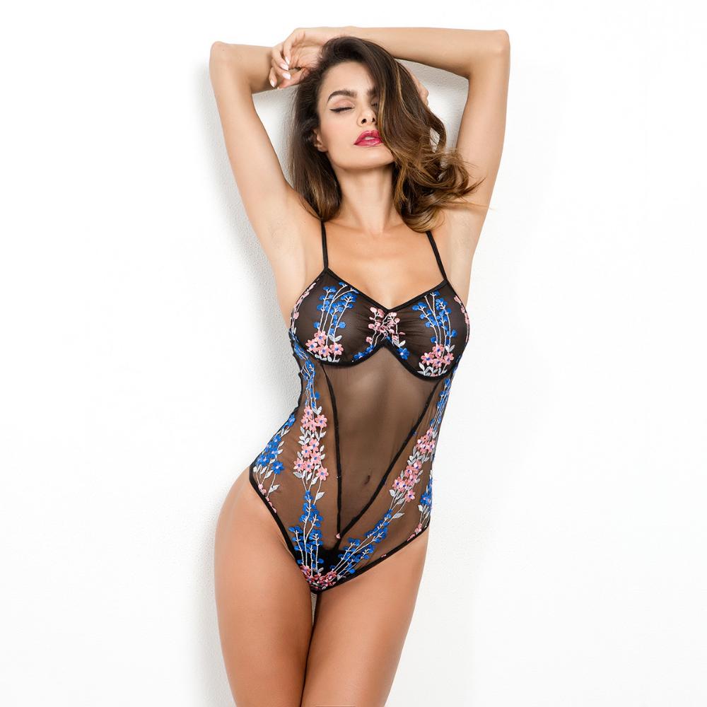 LACESHOP Lace Sexy Women Bodysuit Female Club Romper New