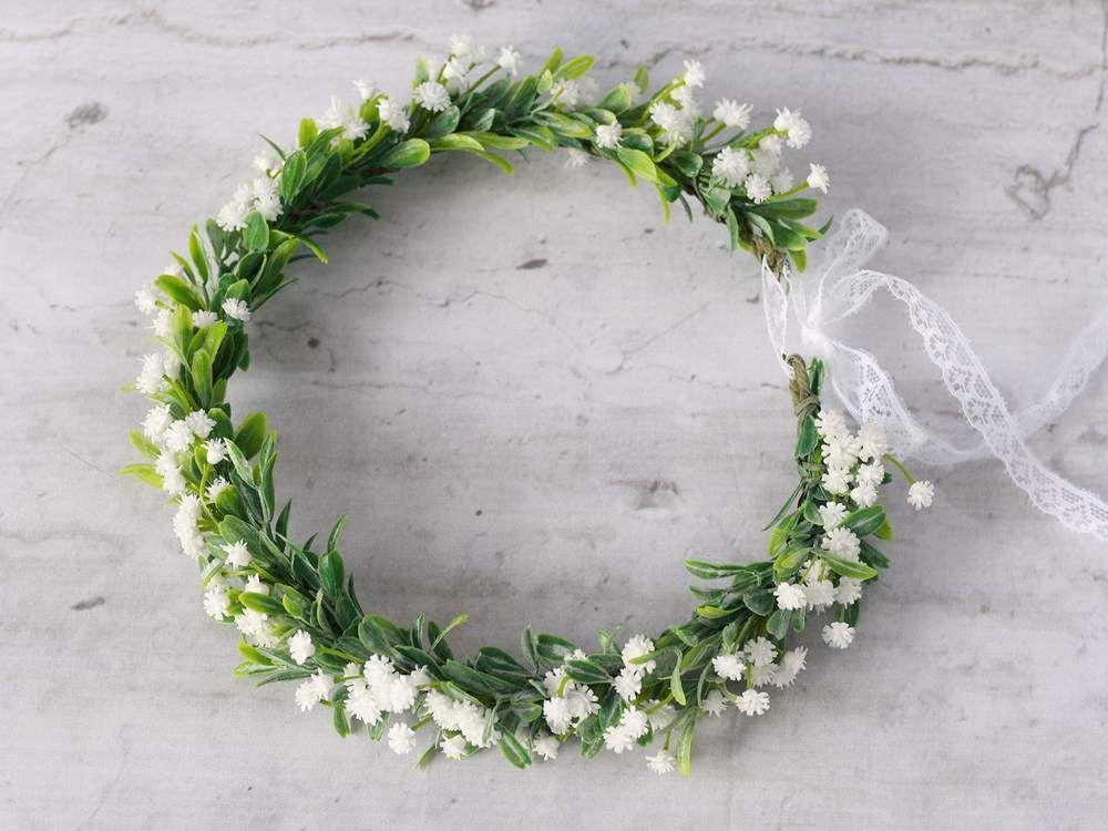 Kwiatowy Wianek Na Glowe Gipsowka Lolawhite Kwiaty Do Wlosow Floral Crown Floral Floral Wreath