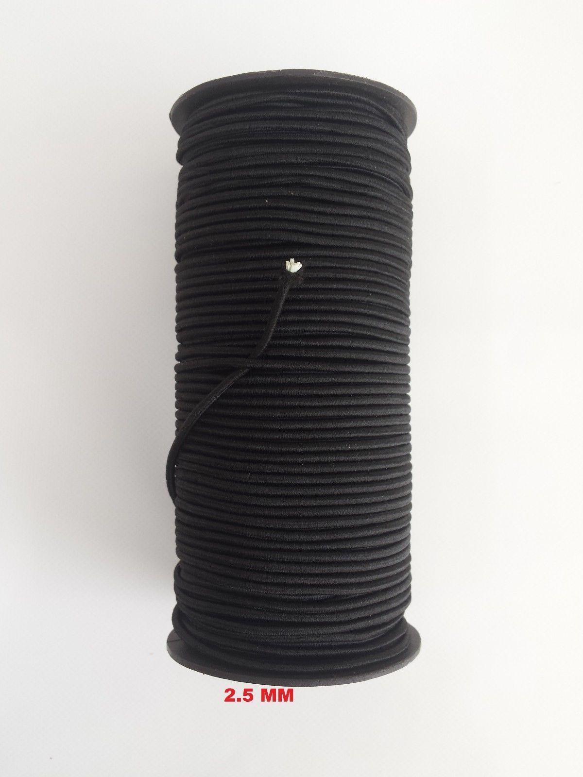 Elastic Bungee Rope - Shock Cord -Tie Down 100 metres x 2,5 mm