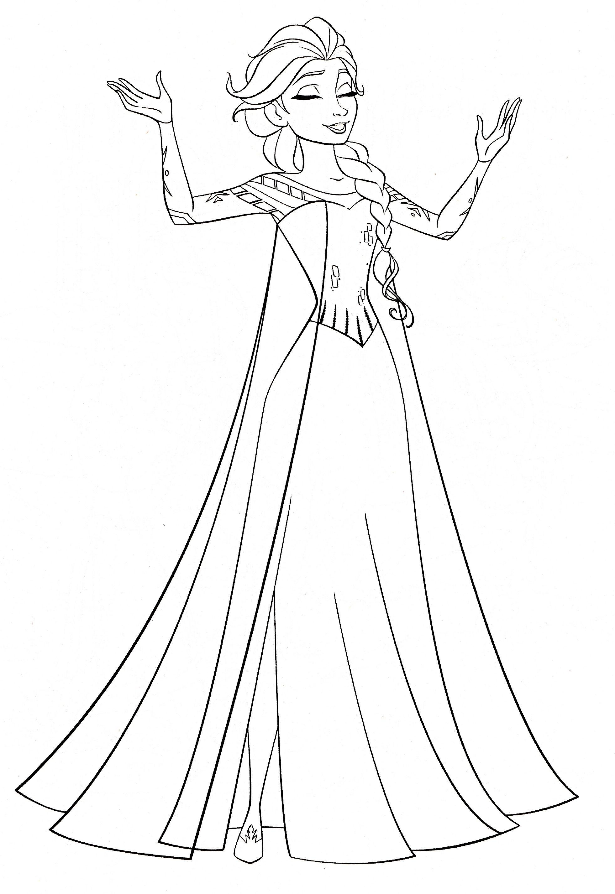 Elsa Let It Go Coloring Pages In 2020 Desene Colorat Pentru