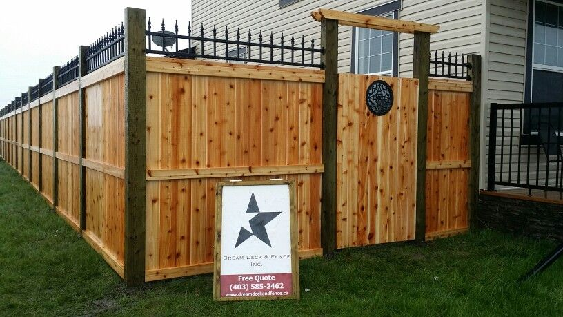 Fortress Style Cedar Fence With 4x6 Pressure Treated Posts