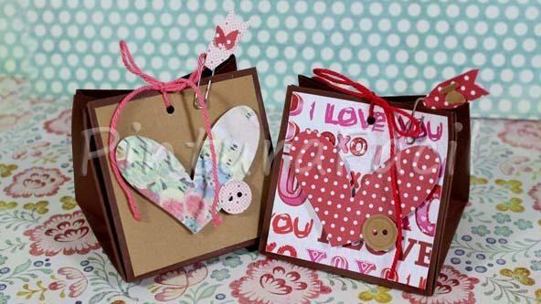 C mo hacer bolsas de papel de regalo toma nota craft - Hacer bolsas de papel para regalo ...