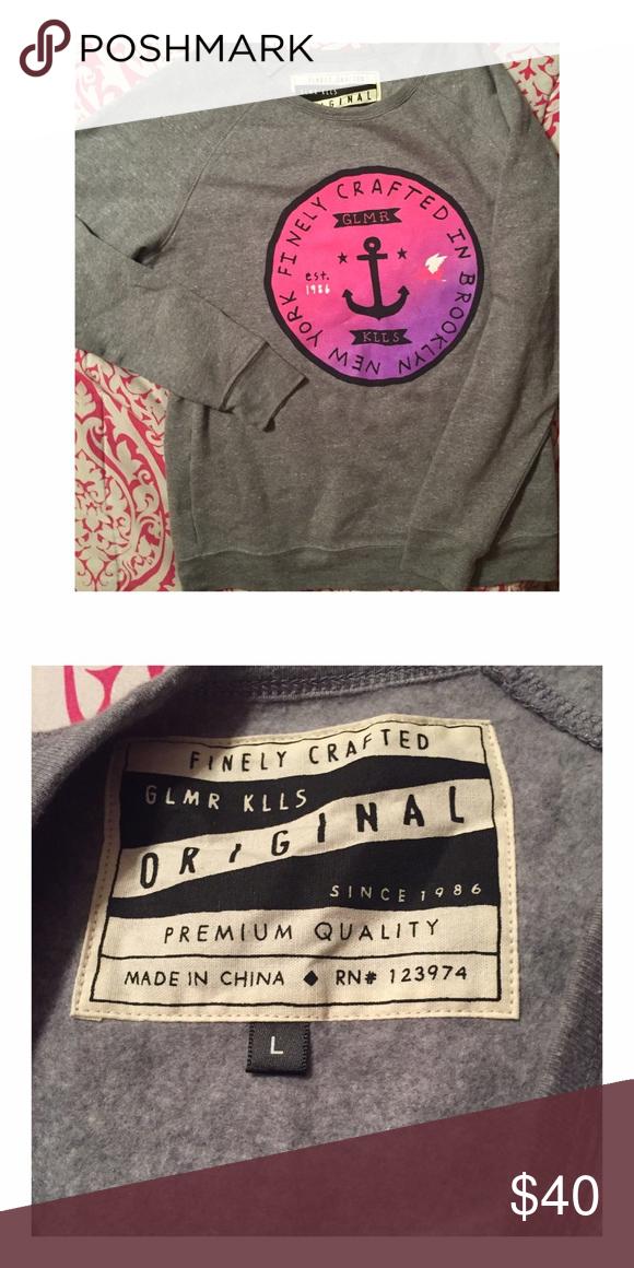 Glamour Kills Crewneck Brand New! Glamour Kills Sweaters Crew & Scoop Necks
