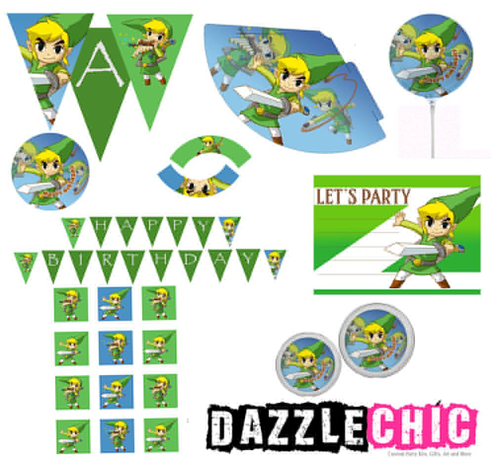 Zelda Party kit With BALLOON by DazzleChic on Etsy https://www.etsy ...