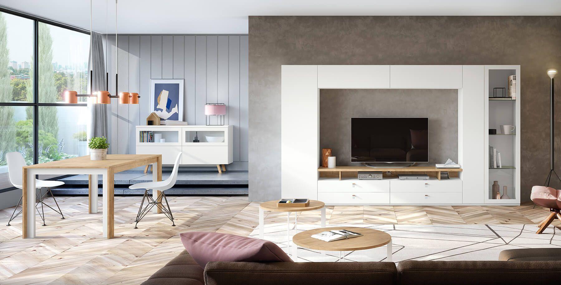 Muebles para comedor de estilo moderno formado por un panel ...