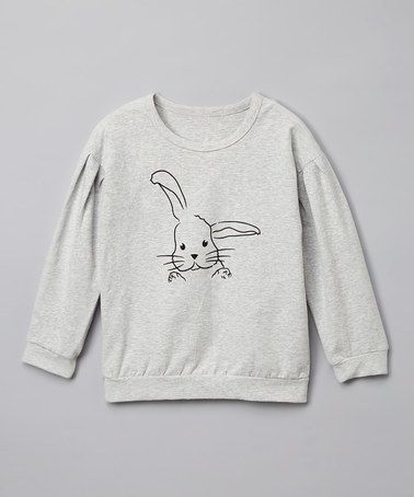 Another great find on #zulily! Gray Bunny Sweatshirt - Infant #zulilyfinds
