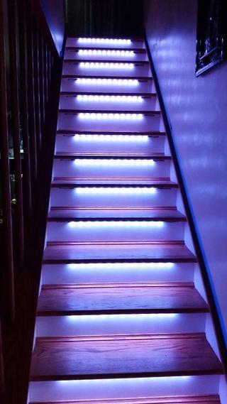 Led Neopixel Motion Sensor Stair Lighting Stair Lighting Led Stair Lights Stair Lights