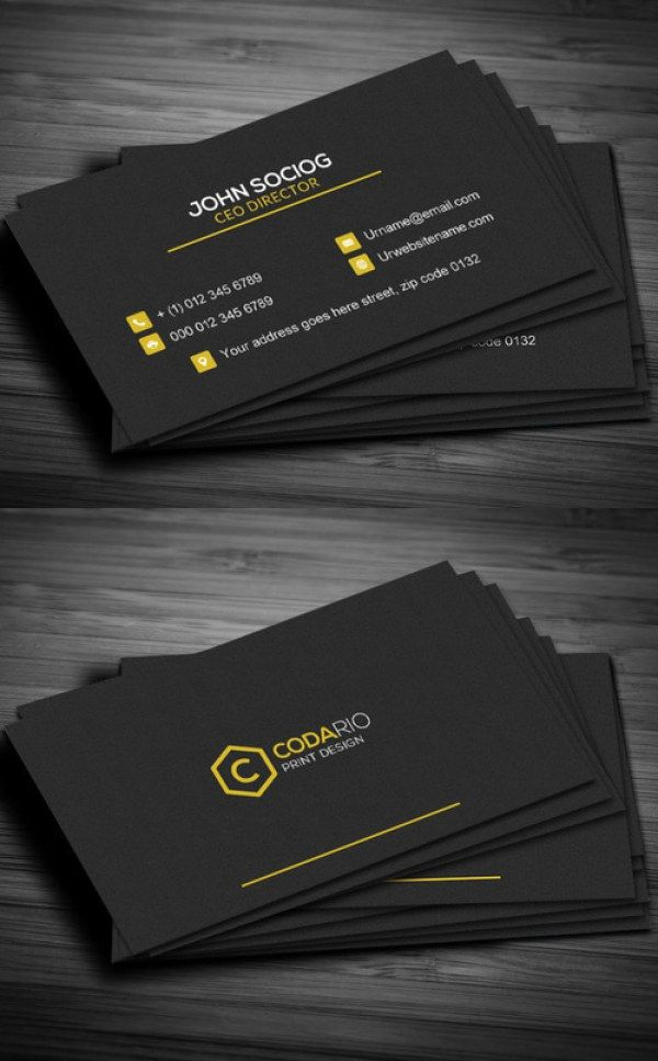 51 New Professional Business Card Psd Templates Construction