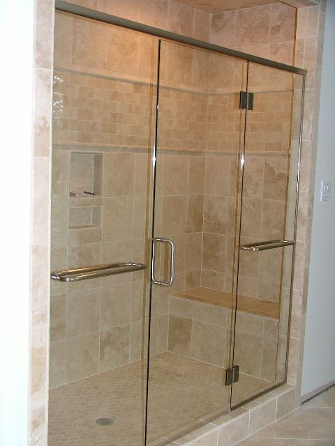 images of heavy shower doors of our new glass shower door enclosure install photos
