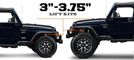 Jeep Tj Lift Kits 3 3 75 Inch 1997 2006 Wrangler New