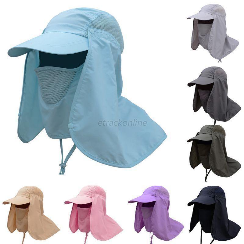 1a9f31ecd2a Outdoor Sport Women Men Fishing Hiking Hat Uv Protection Face Neck Flap Sun  Cap