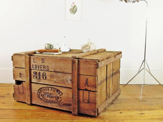 wood coffee table,vintage crate,apothecary crate,industrial shipping crate,storage trunk,rustic decor,farmhouse antique,New Haven CT,BOSTON