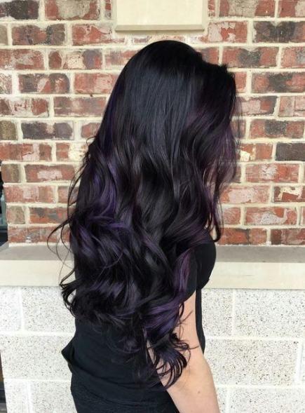 Super hair color plum black Ideas