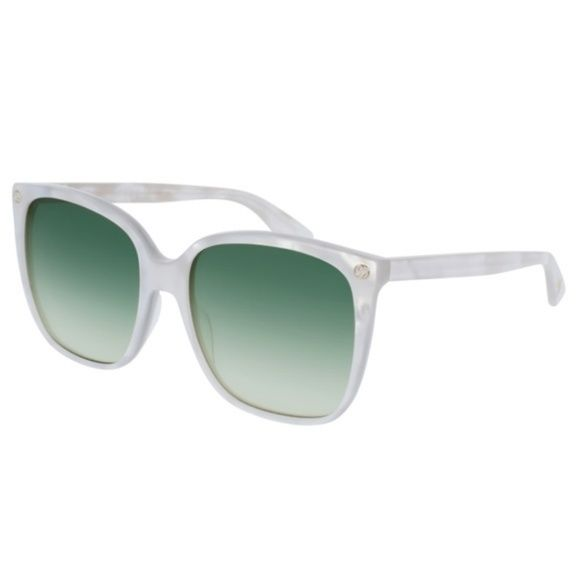 12530aa9d0 Gucci Romantic GG 0022S 004 White Sunglasses Everything we sell is 100%  authentic. PLEASE