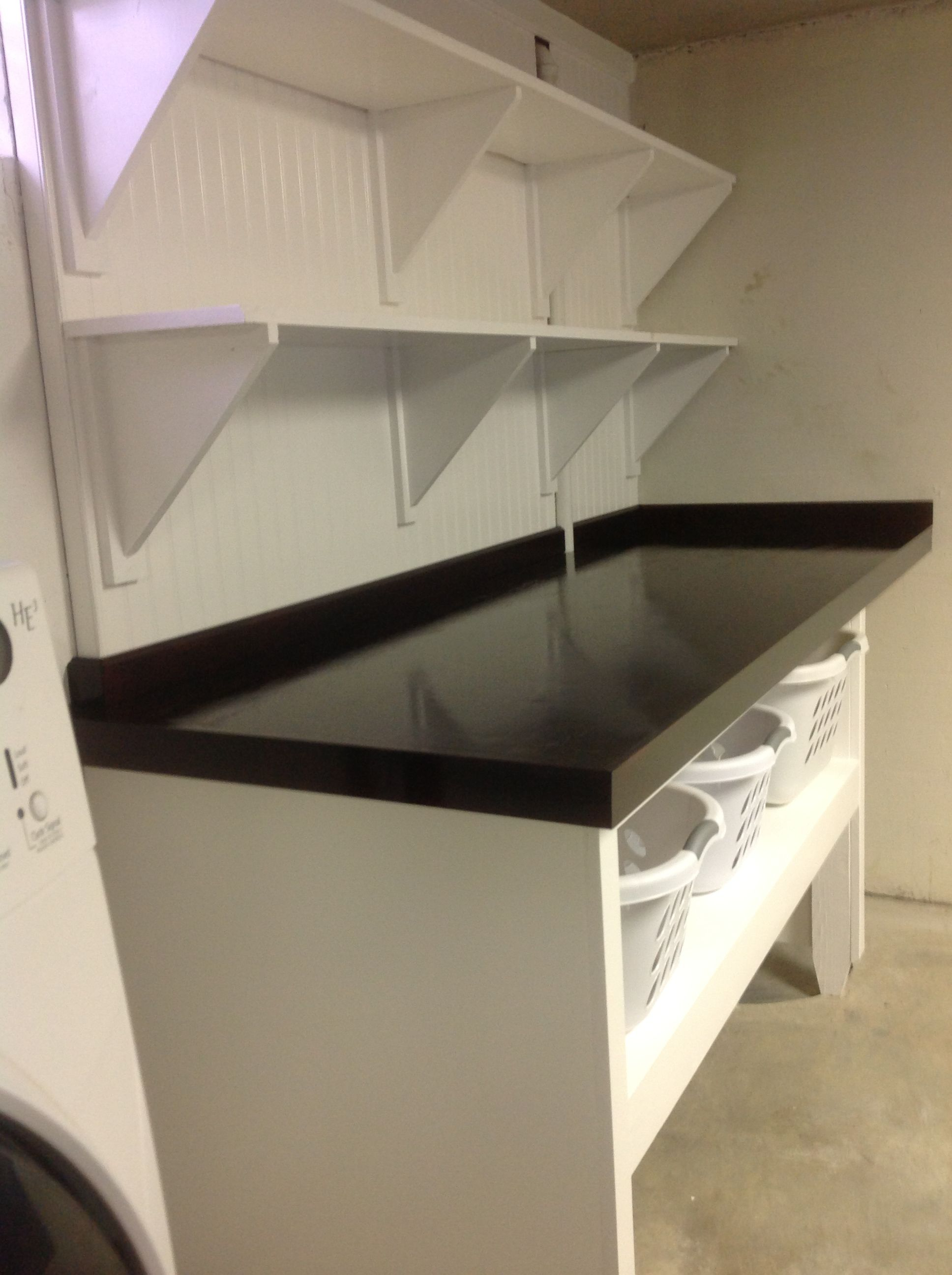 Laundry Folding Table And Shelving Laundry Room Design Laundry