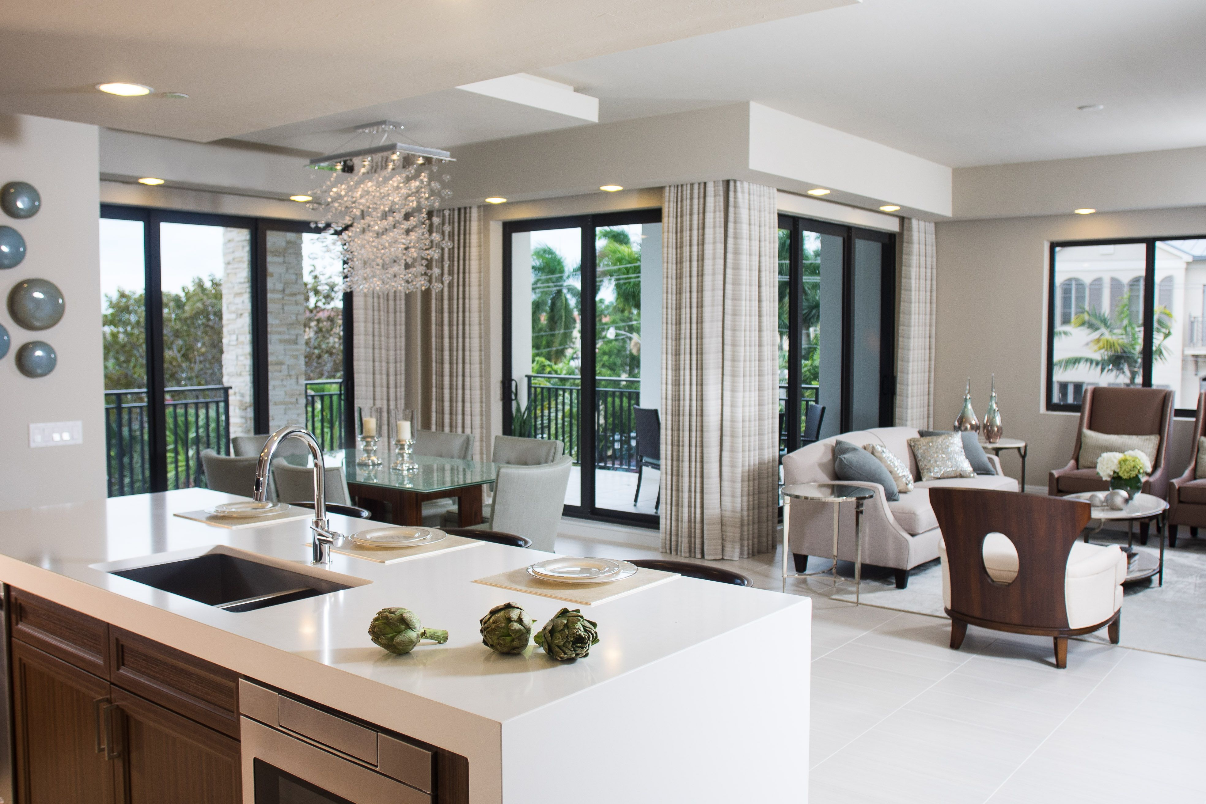 dennison model at naples square interior design by claudia baer of