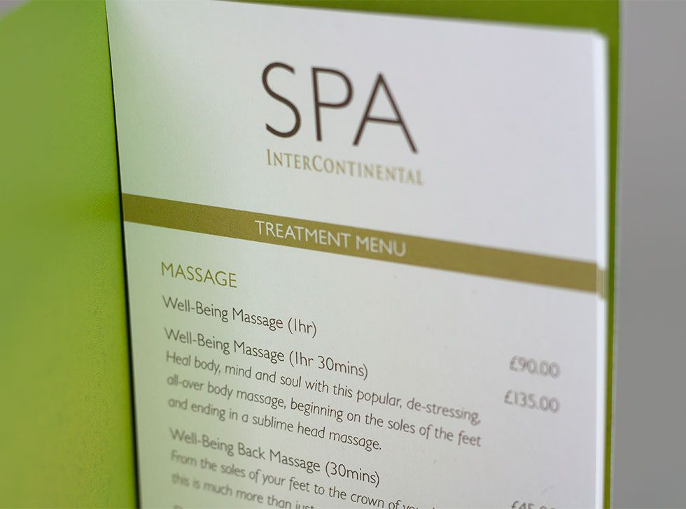 Im London  Spa Communications Design  Spa Brochure Design  Spa