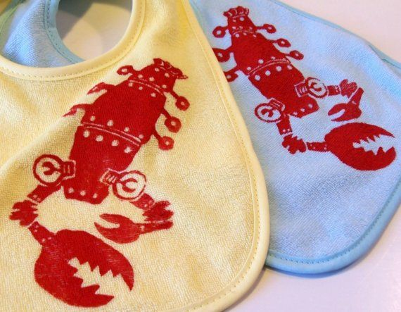 Robo-lobster bibs!