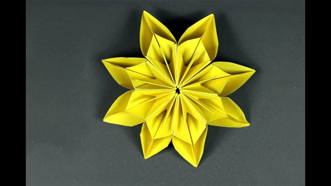How To Make Paper Flowers Easy Origami Flower Tutorial Origami