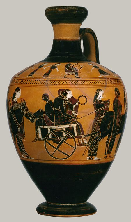 Terracotta Lekythos Oil Flask Ancient Greek Art Greek